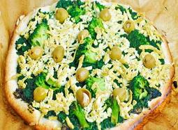 Pizza verde vegana si fara gluten
